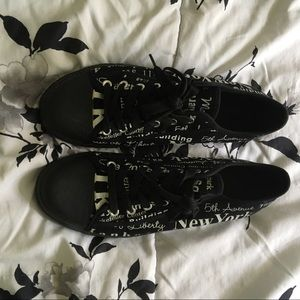 Shoes - NYC Print Knock Off Converse